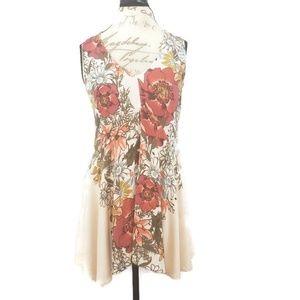 Free People Flowered Mini Dress